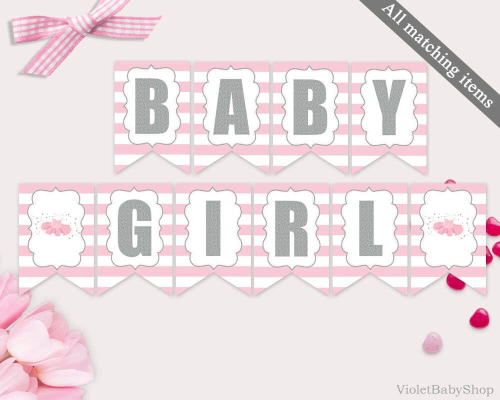 001 Baby Shower Banner Template Magnificent Ideas Pennant Throughout Diy Baby Shower Banner Template
