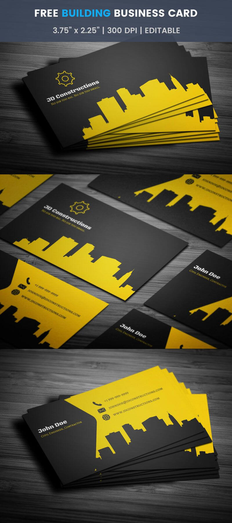 001 Construction Business Card Template Free Download Word Within Construction Business Card Templates Download Free