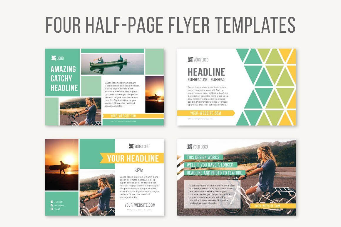 001 Half Page Flyer Template Free Formidable Ideas ~ Thealmanac For Half Page Brochure Template