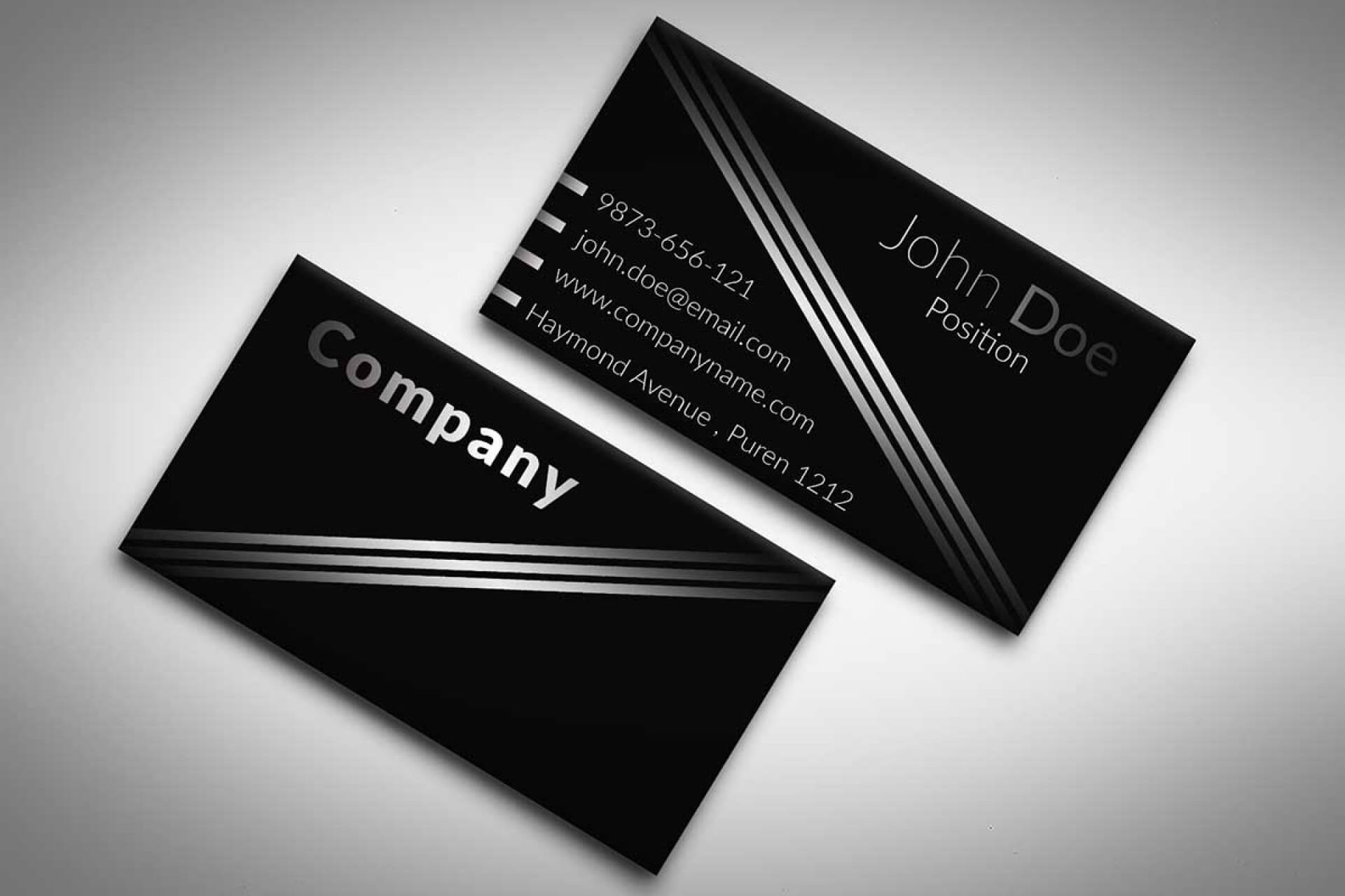 001 Template Ideas Business Cards Free Templates Impressive Pertaining To Black And White Business Cards Templates Free