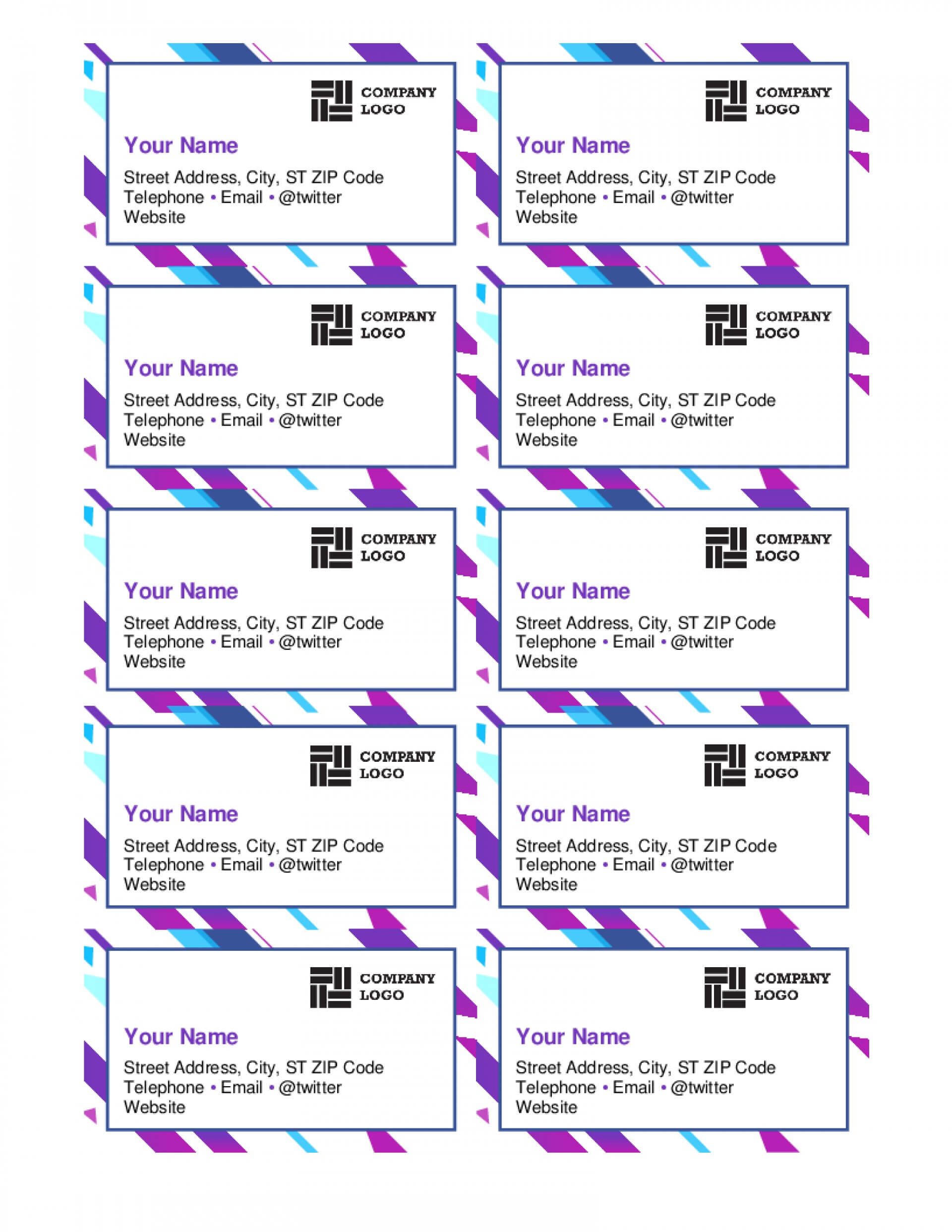001 Template Ideas Image Microsoft Word Business Card For Template For Cards In Word