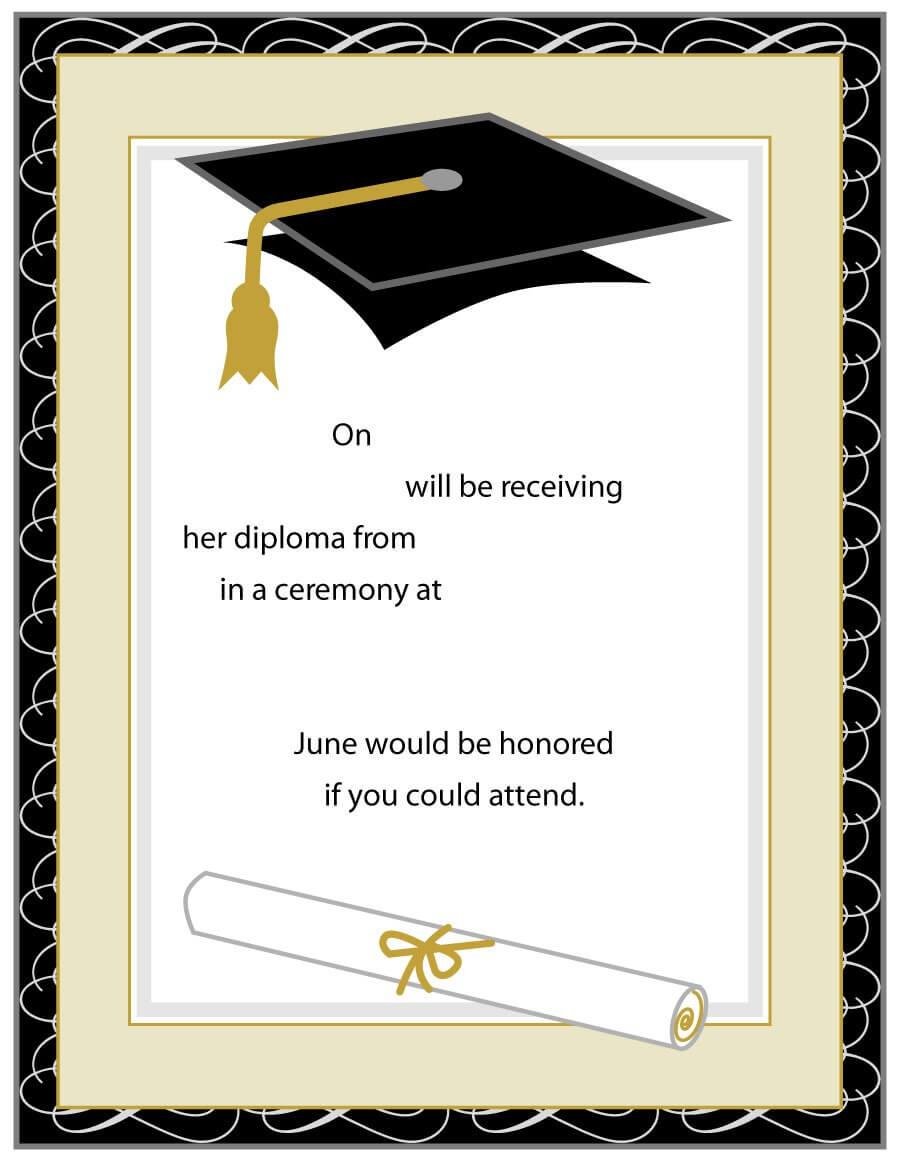 002 Graduation Invitation Templates Free Printable Inside Free Graduation Invitation Templates For Word