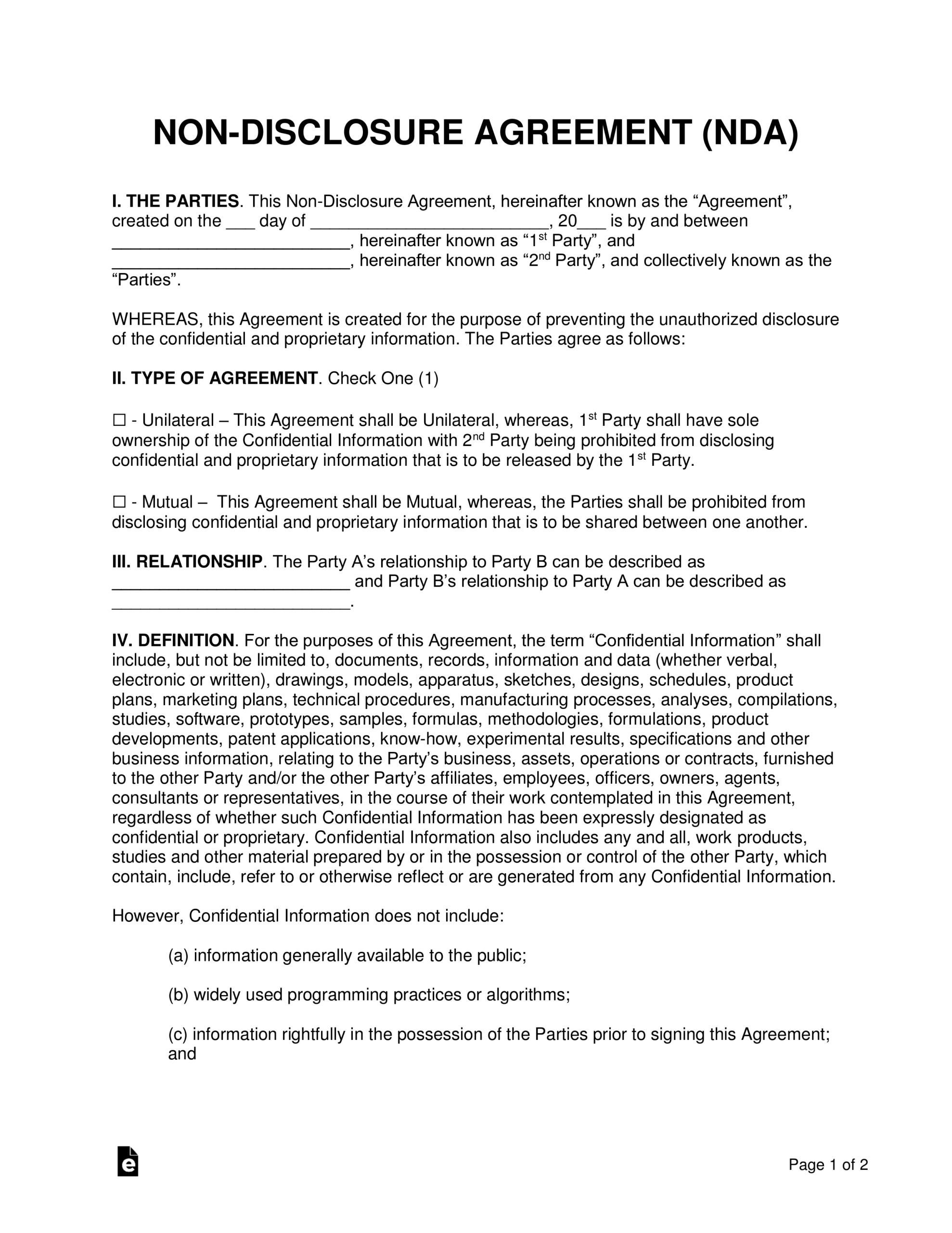 002 Non Disclosure Agreement Template Word Archaicawful Inside Nda Template Word Document