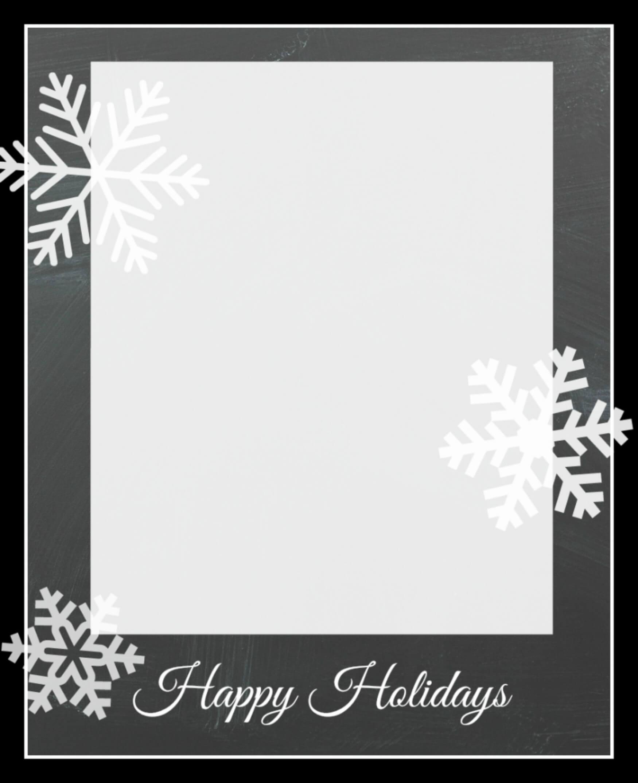 002 Snowflakecard3 Holiday Card Templates Free Template Inside Free Holiday Photo Card Templates