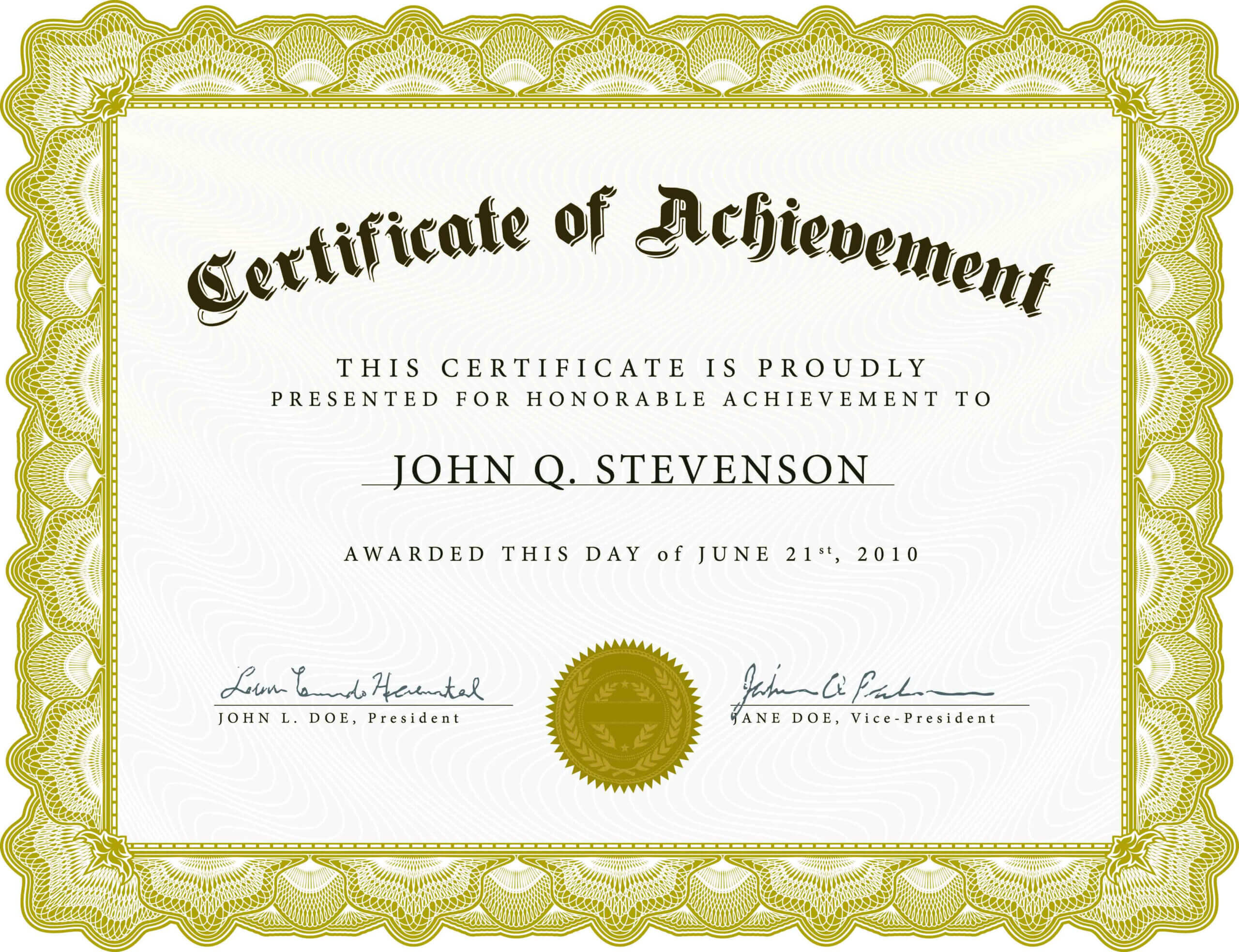 002 Word Certificate Of Achievement Template Outstanding Within Army Certificate Of Achievement Template