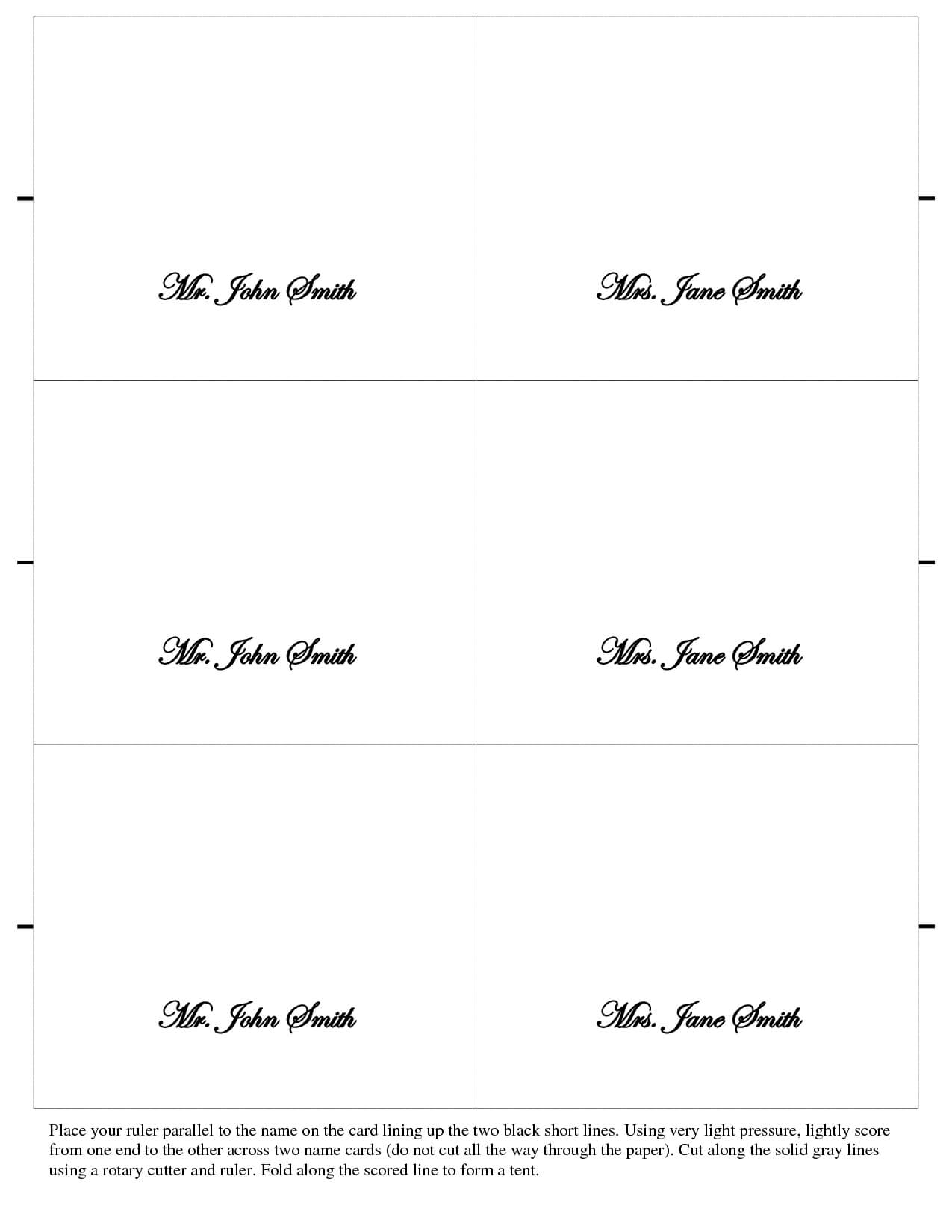 003 Free Place Card Template Ideas Table Mwd108673 Vert In Free Place Card Templates 6 Per Page