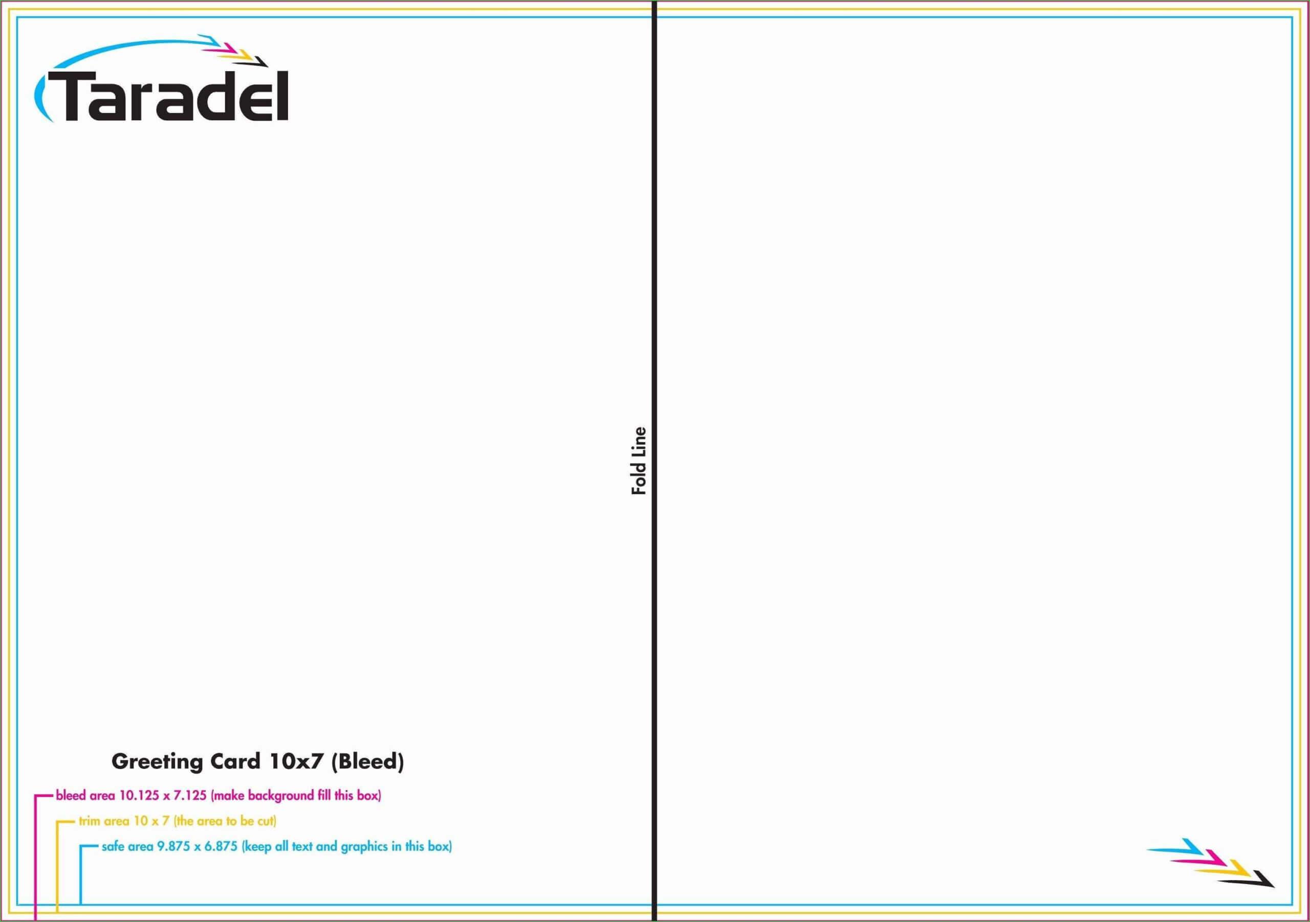 003 Quarter Fold Card Template Photoshop Indesign Greeting In Quarter Fold Card Template