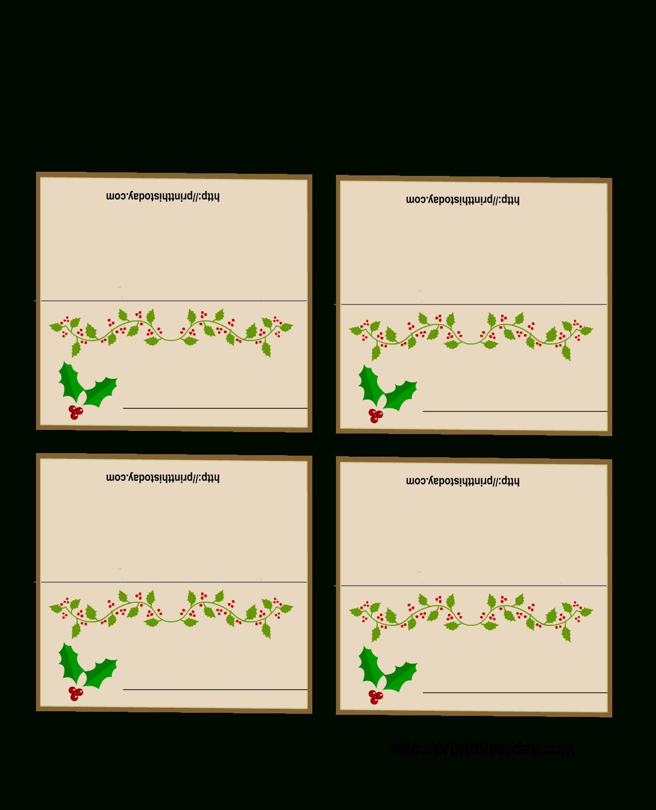 003 Table Name Cards Template Christmas Ideas Place Intended For Christmas Table Place Cards Template