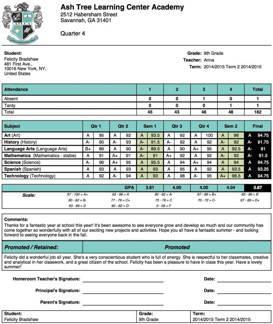 003 Template Ideas 20High School Report Card Sample Within Report Card Format Template