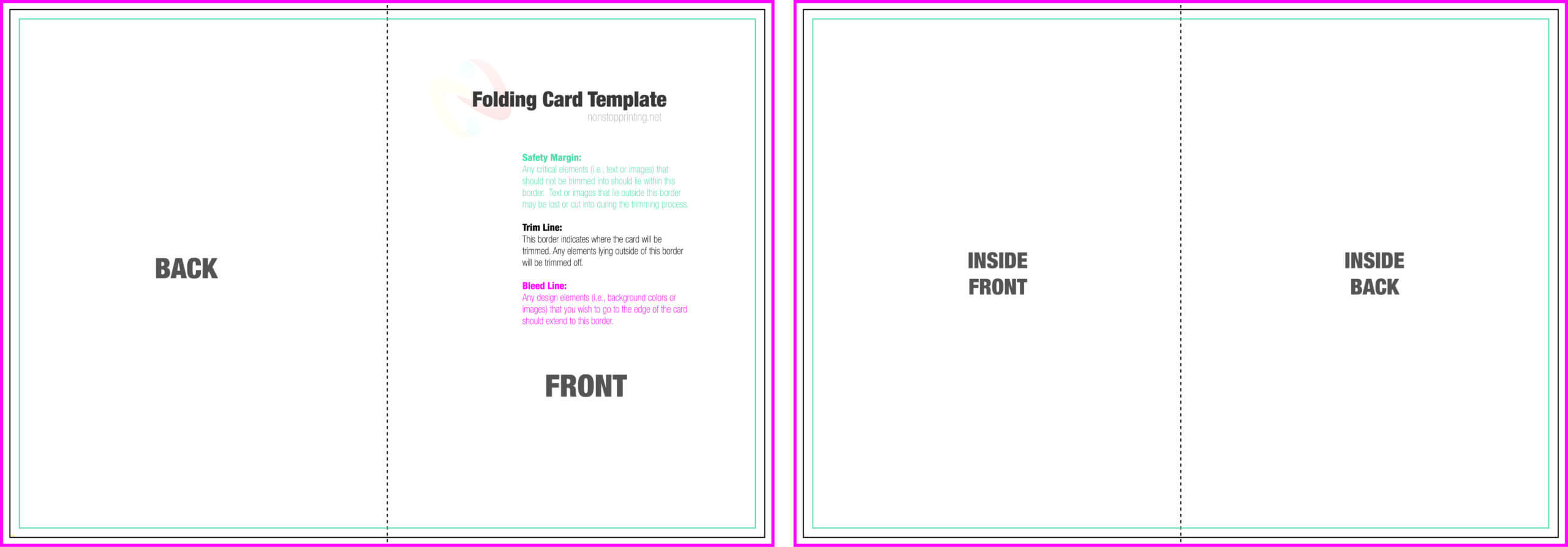 004 Blank Quarter Fold Card Template Free Ideas Greeting Inside Fold Out Card Template