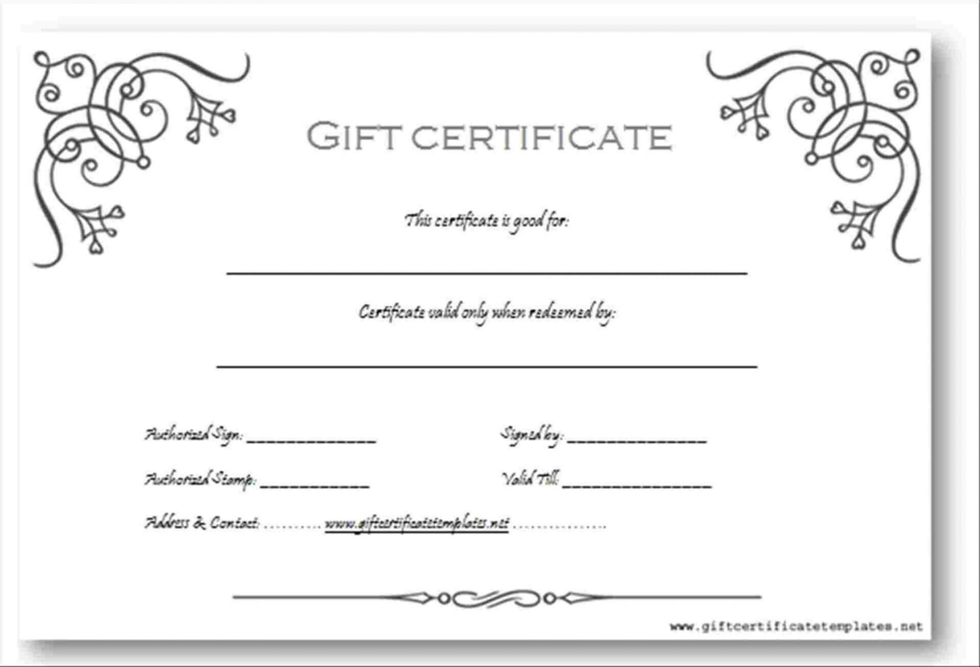 004 Free Gift Card Template Word 1920X1440 Striking Ideas Inside Black And White Gift Certificate Template Free