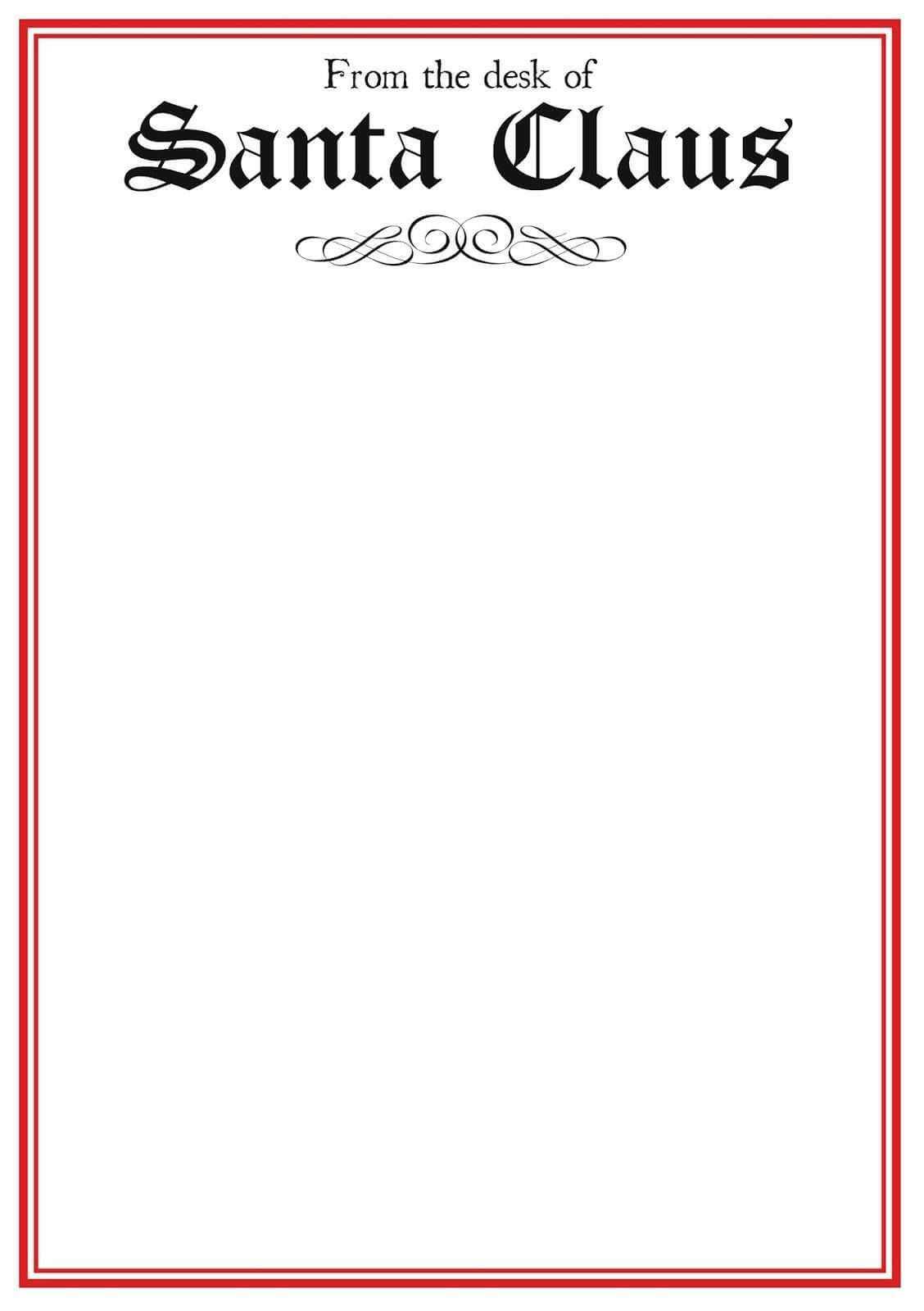 004 Template Ideas Blank Letter From Santa Pdf Cool To With Blank Letter From Santa Template