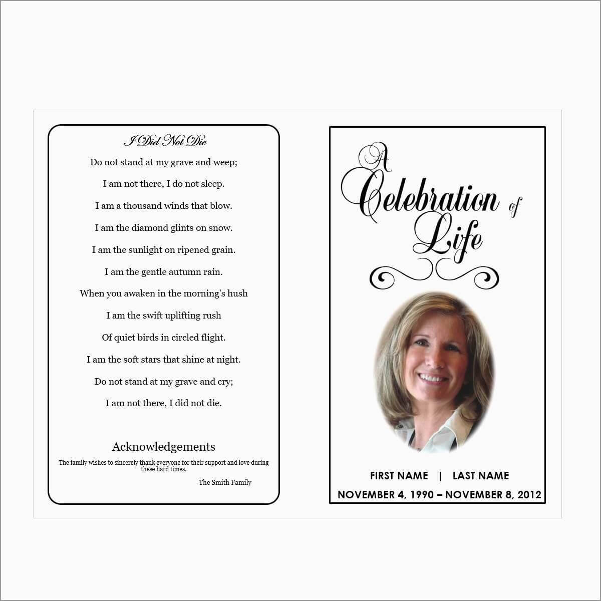 004 Template Ideas Free Printable Funeral Prayer Card Pertaining To Memorial Cards For Funeral Template Free