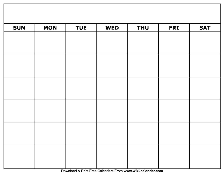 005 Blank Calendar Template Ideas Striking Printable Monthly With Full Page Blank Calendar Template