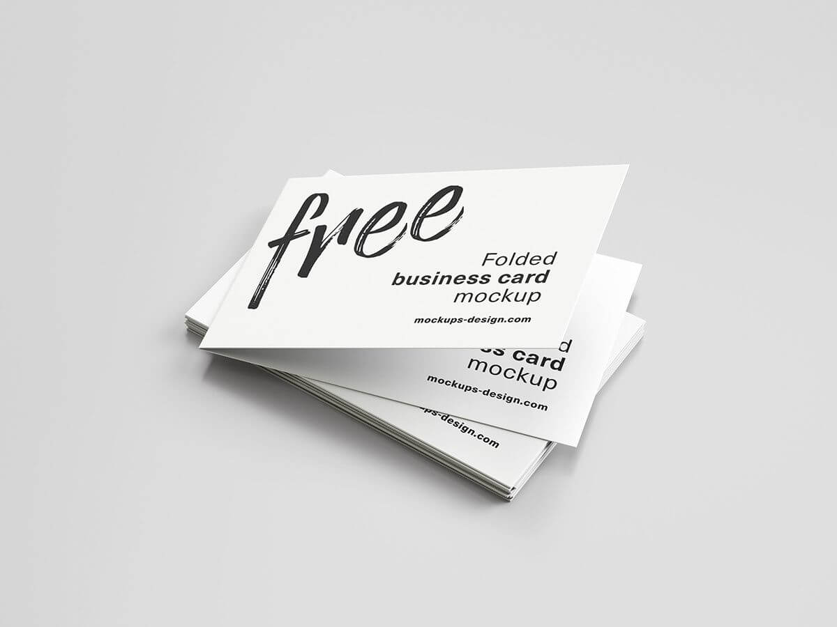 006 Folded Business Card Template Astounding Ideas Indesign Throughout Fold Over Business Card Template