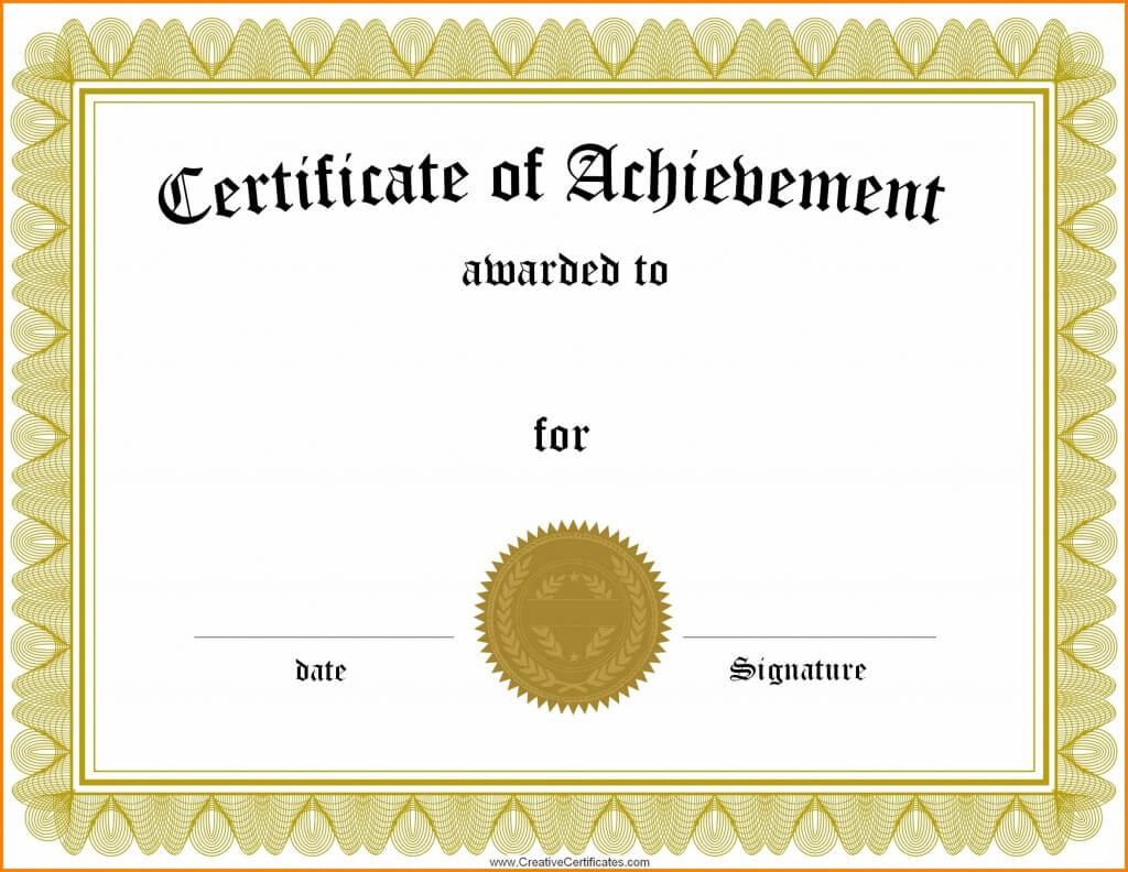 006 Template Generic Certificate Martial Arts Gift Templates In Generic Certificate Template