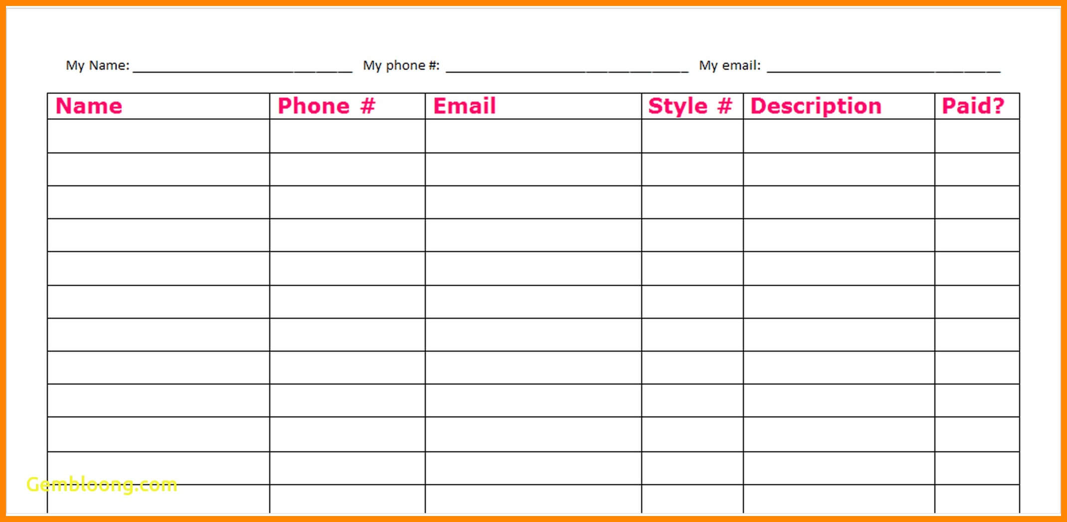 007 Fundraising Order Form Template Fundraiser Inspirational Throughout Blank Fundraiser Order Form Template