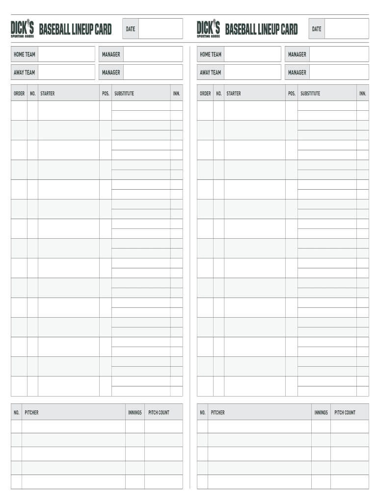 007 Large Baseball Lineup Card Template Imposing Ideas Free Within Dugout Lineup Card Template