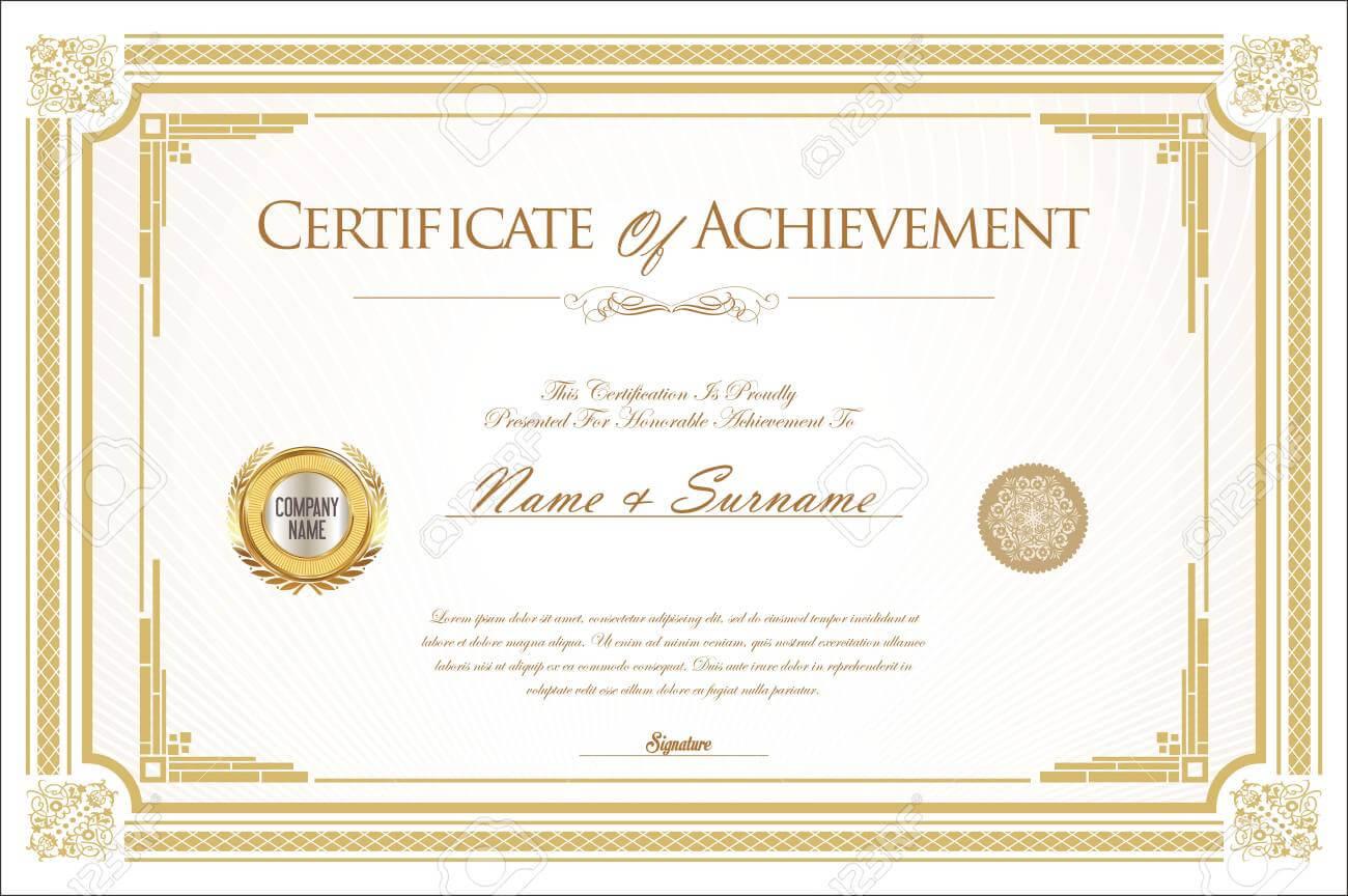 007 Template Ideas Certificate Of Achievement Or Army Pertaining To Certificate Of Achievement Army Template