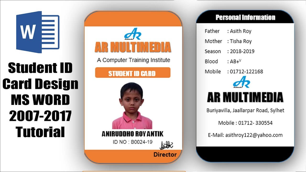 007 Template Ideas Employee Id Card Format Free Download Within Id Card Template For Microsoft Word