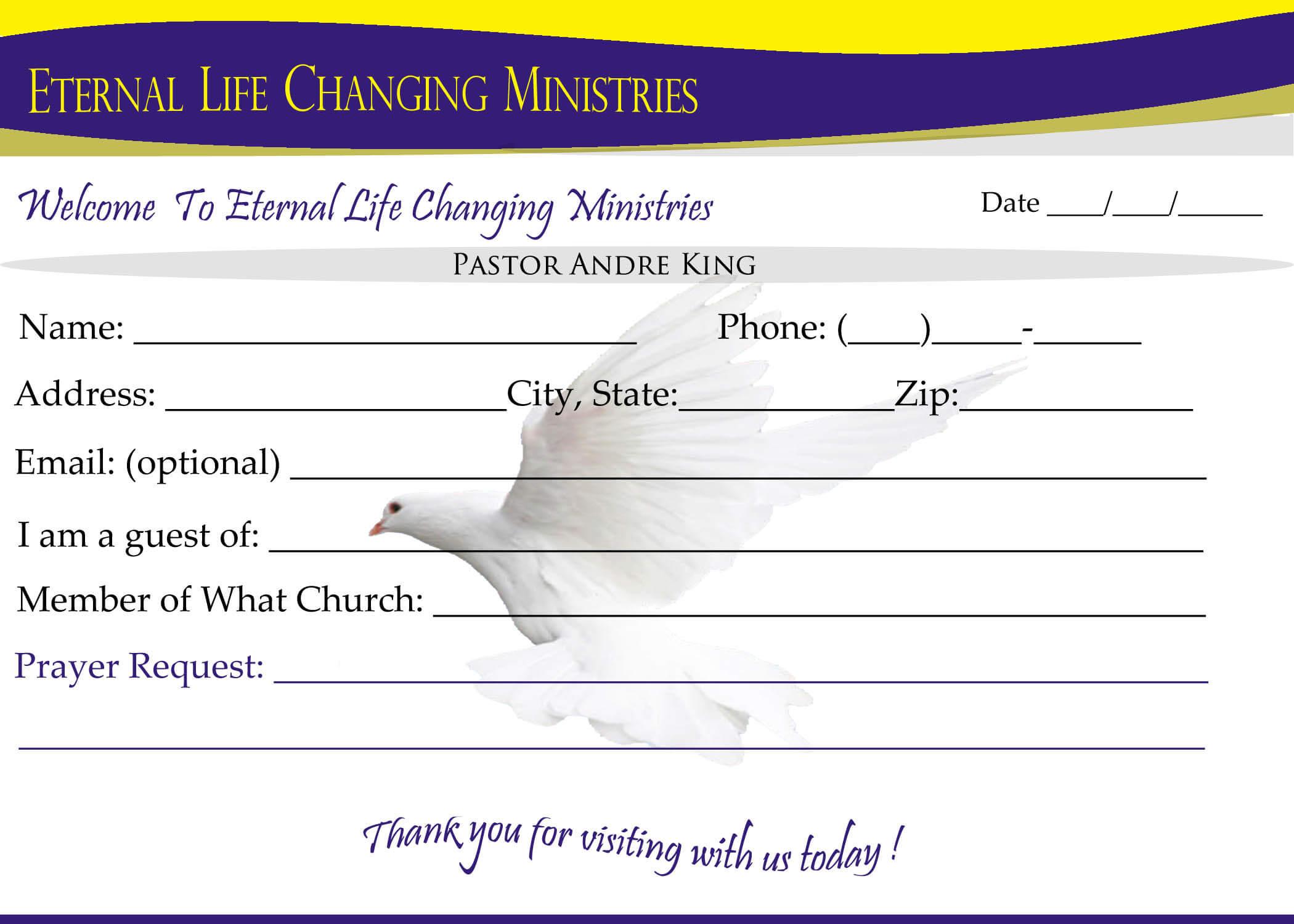 007 Template Ideas Eternal Life Visitor Card Church Regarding Church Visitor Card Template Word