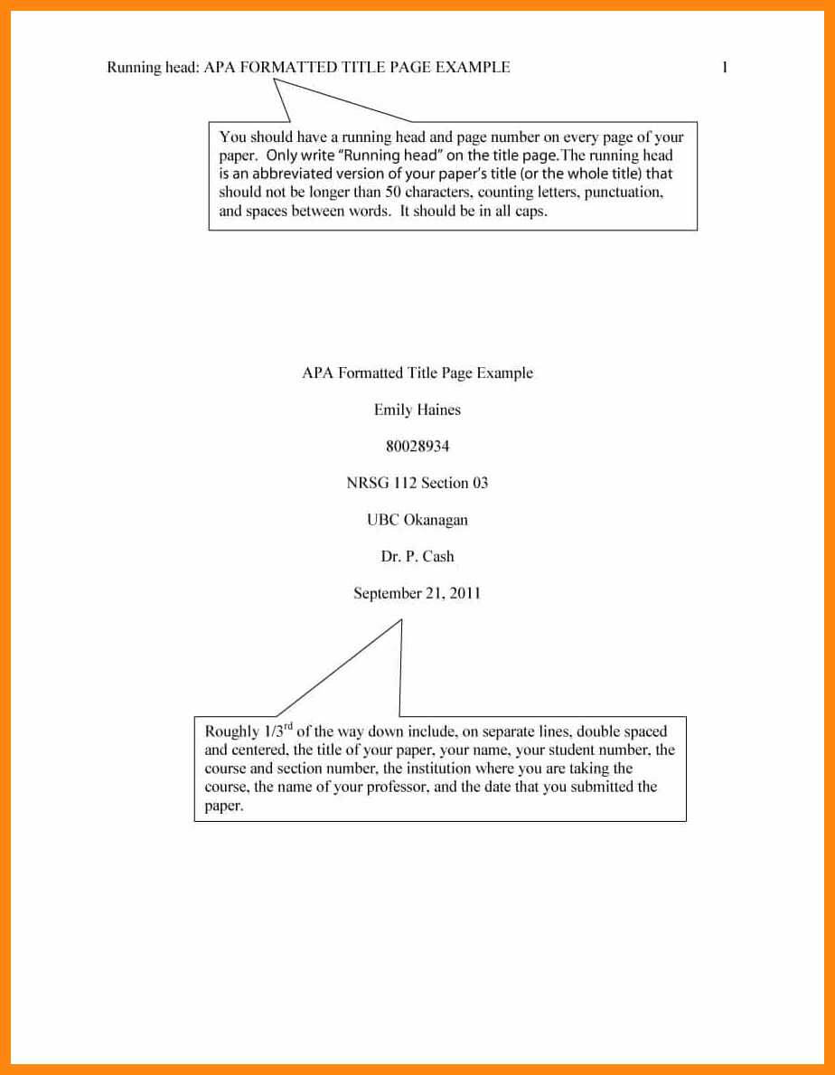 008 Apa Cover Page Template Title Pages In Format Within Apa Format Template Word 2013