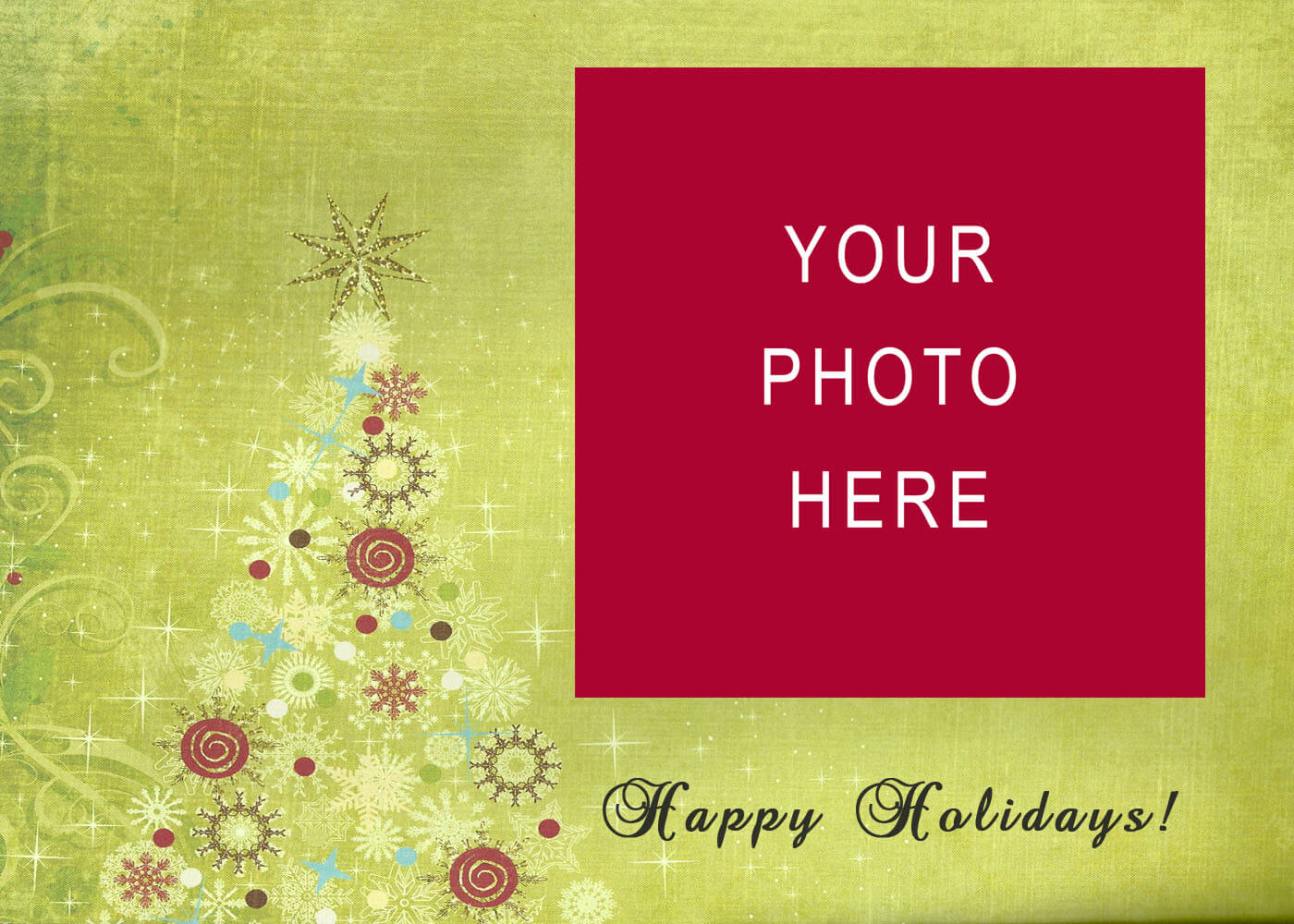 008 Christmas Card Templates Free Download Images In Photo Throughout Happy Holidays Card Template