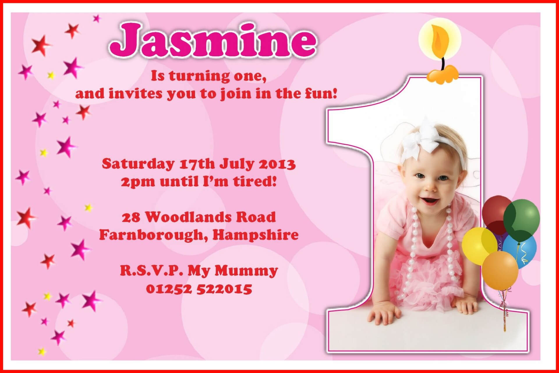 008 First Birthday Invitation Templates Free Download Indian With Regard To First Birthday Invitation Card Template