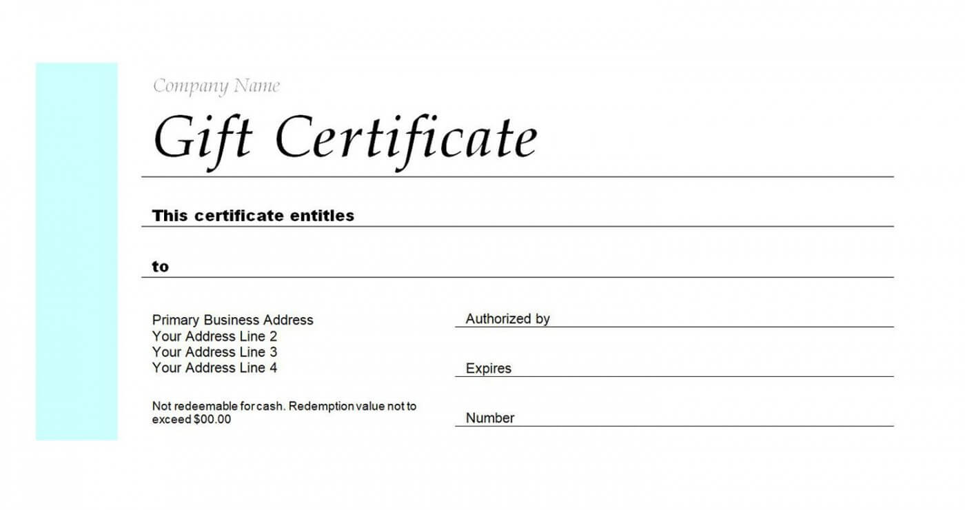 008 Template Ideas Blank Gift Certificate Bday Striking With Regard To Company Gift Certificate Template