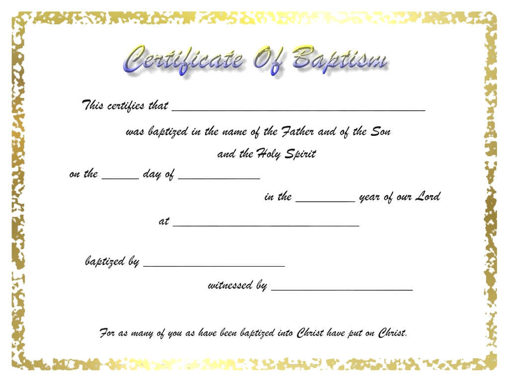 009 Certificate Of Baptism Template Unique Ideas Broadman Pertaining To Baptism Certificate Template Word