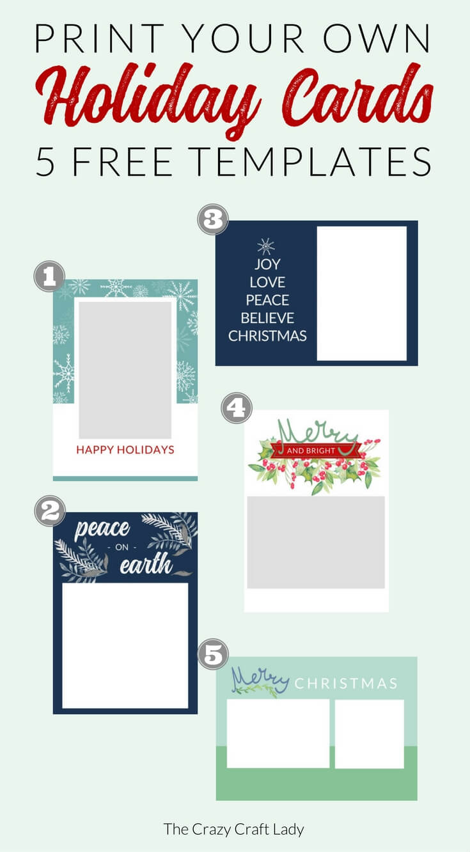 009 Free Printable Holiday Photo Card Templates Template In Printable Holiday Card Templates