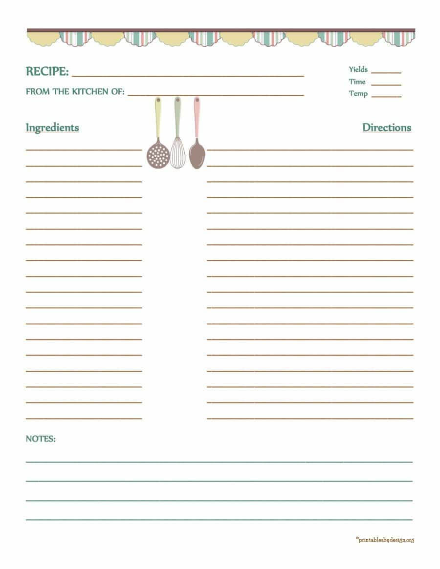 010 Cookbook Template Full Page Recipe Editable Marvelous Pertaining To Full Page Recipe Template For Word