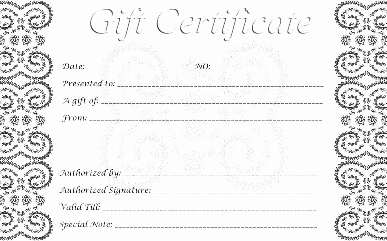 011 Blank Gift Certificate Template Ideas Online Printable Pertaining To Black And White Gift Certificate Template Free
