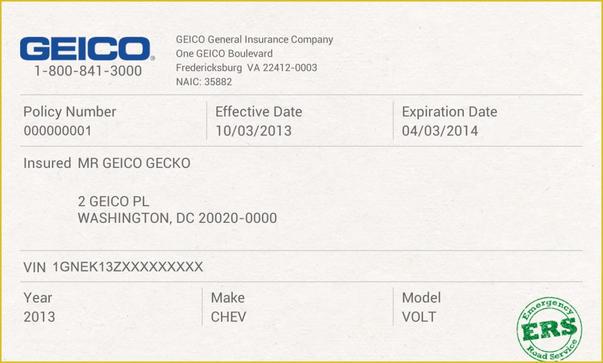 012 Company Car Policy Template Free Auto Insurance Id Card Regarding Car Insurance Card Template Download