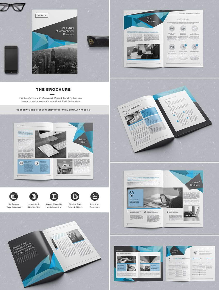 012 Corporate Business Brochure On Graphicriver Indesign For Indesign Templates Free Download Brochure