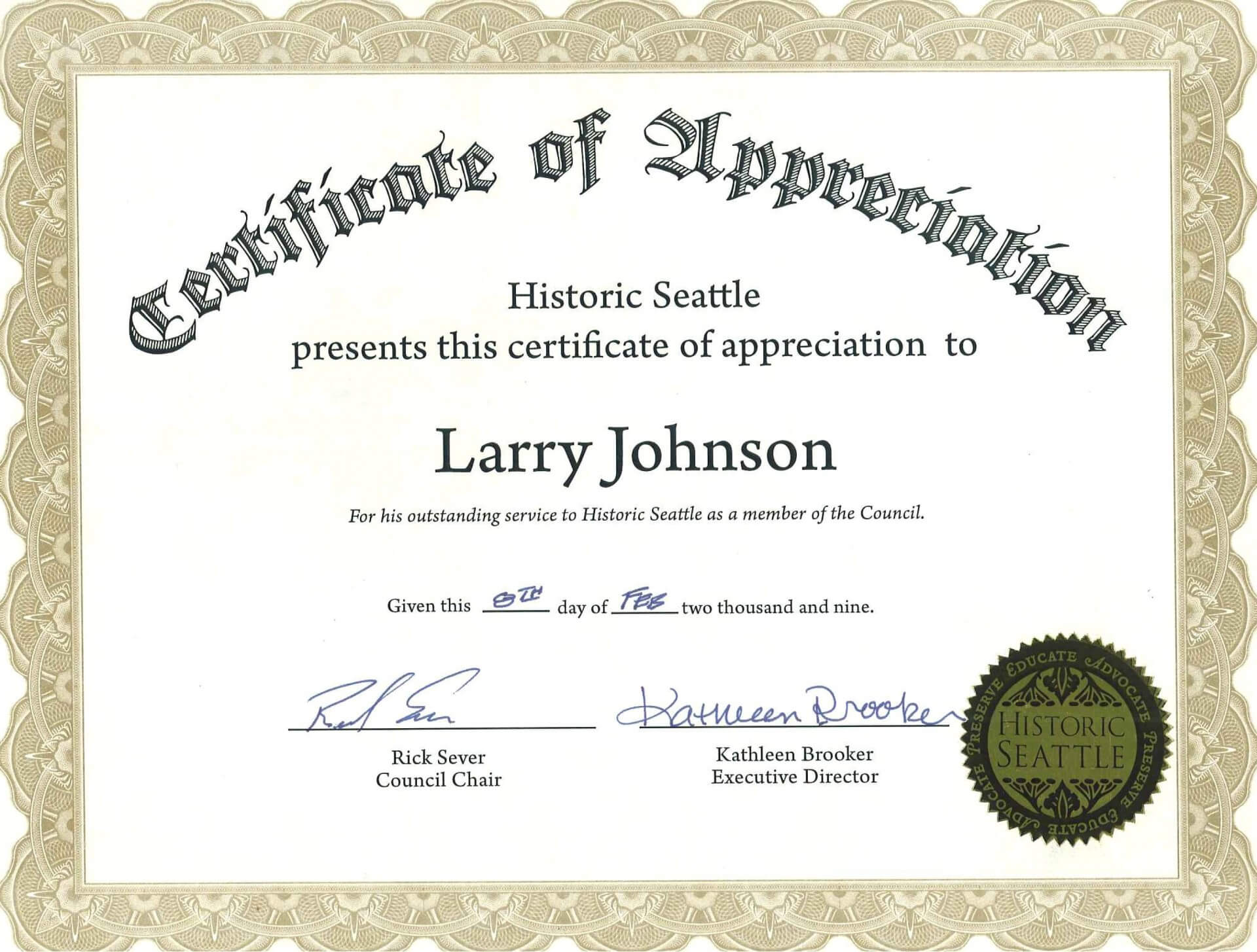 012 Loyalty Award Certificate Template Example Ideas Years Intended For Certificate For Years Of Service Template