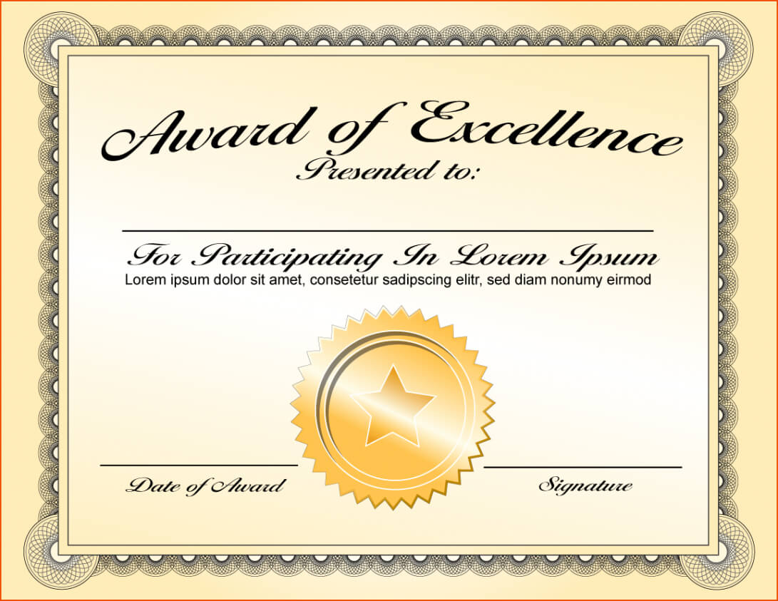 013 Award Certificate Template Word Ideas Of Appreciation Intended For Powerpoint Award Certificate Template