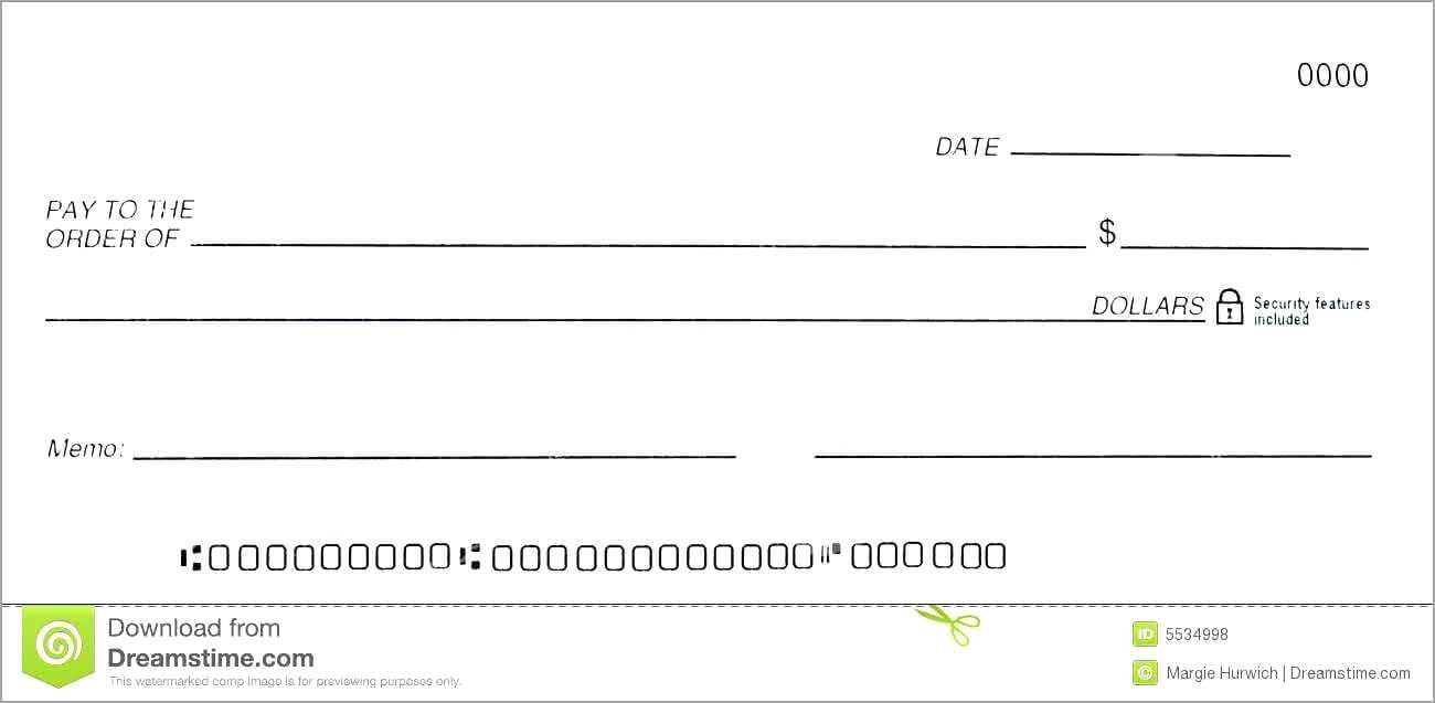 014 Free Blank Business Check Template Good Of Dummy Cheque Inside Blank Business Check Template