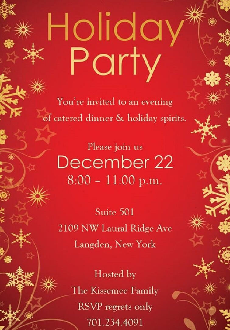 014 Template Ideas Free Download Christmas Party Flyer In Free Christmas Invitation Templates For Word