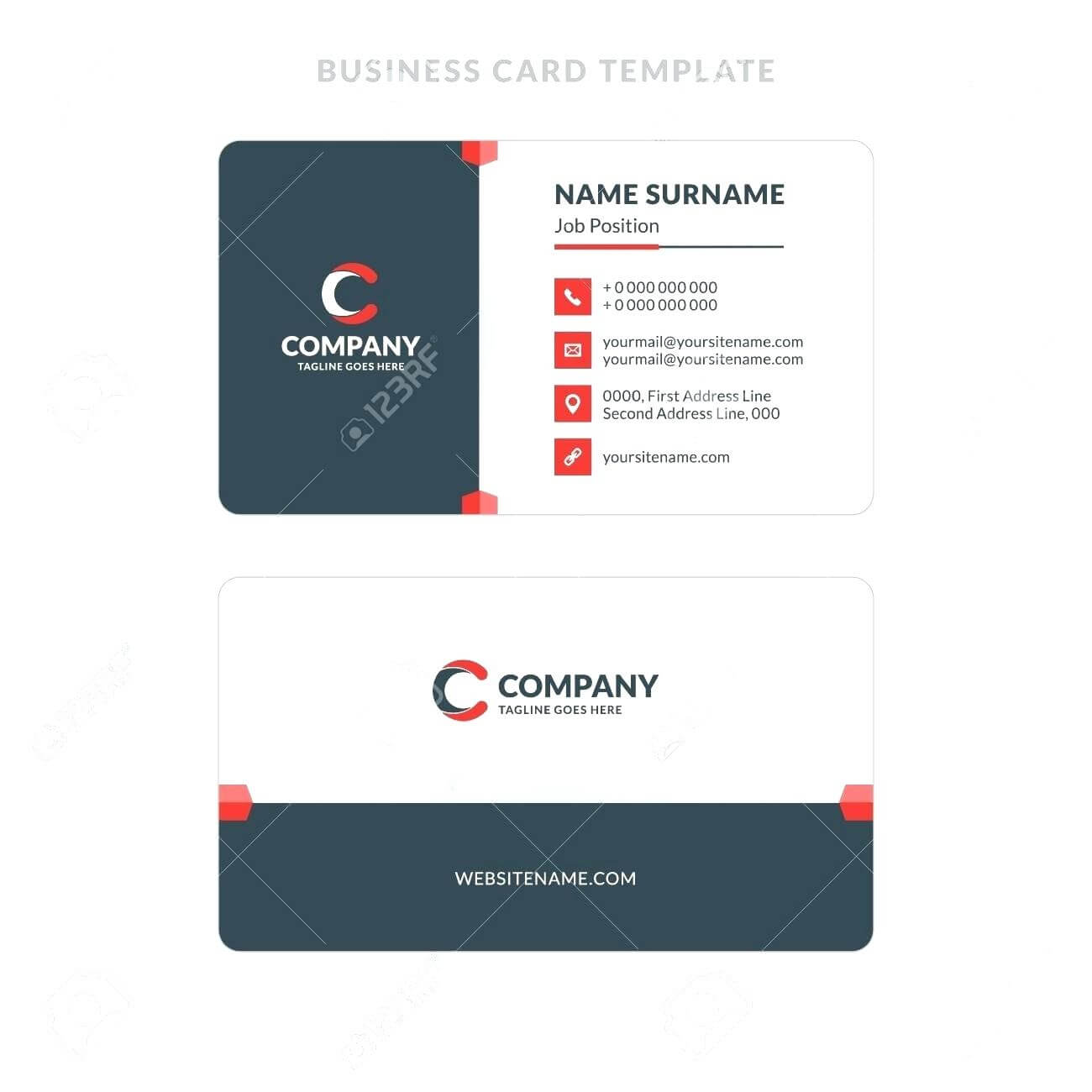 015 Double Sided Business Card Template Illustrator Best Of Inside 2 Sided Business Card Template Word