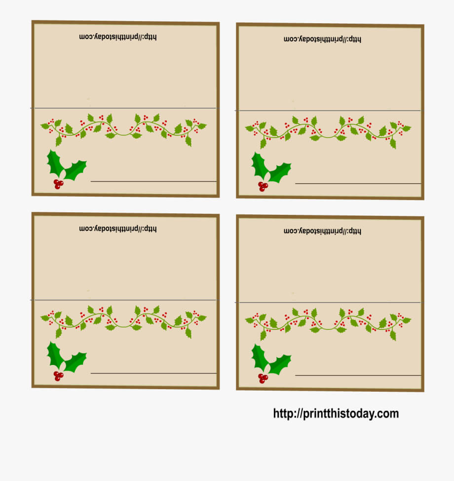 016 Christmas Table Name Place Cards Template Ideas 4545967 Pertaining To Christmas Table Place Cards Template