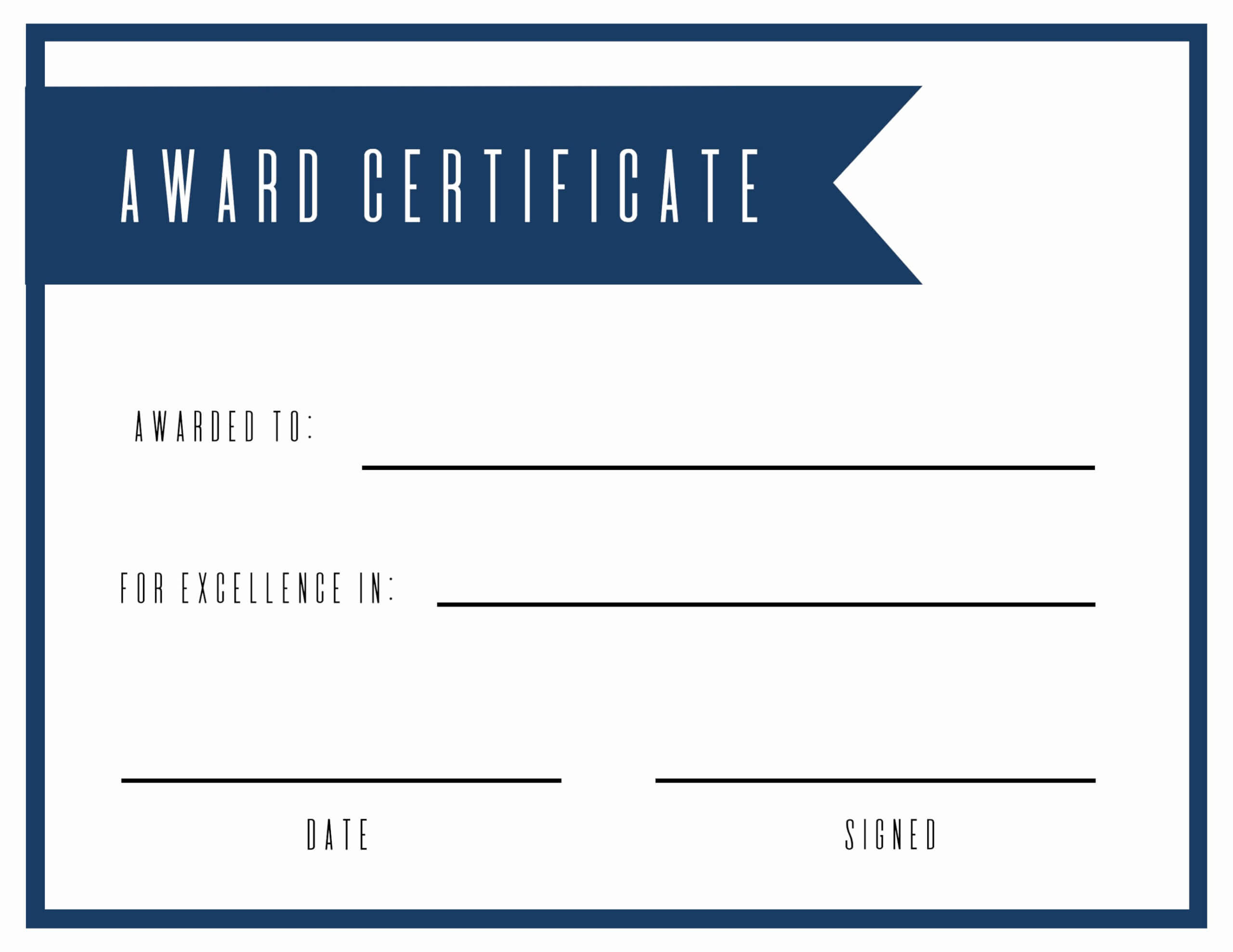 016 Free Printable Diploma Template Elegant Award With Certificate Of Achievement Template For Kids