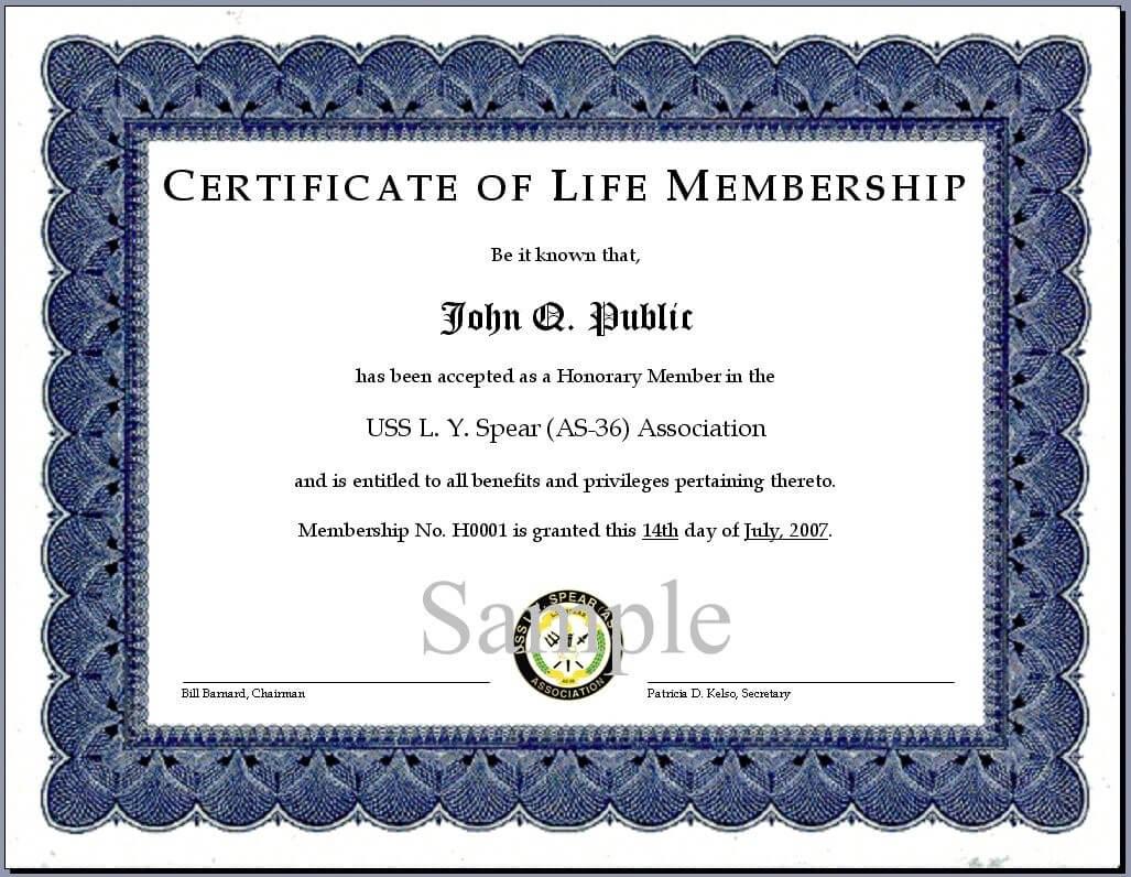 016 Template Ideas Llc Membership Certificate Latest Intended For Life Membership Certificate Templates