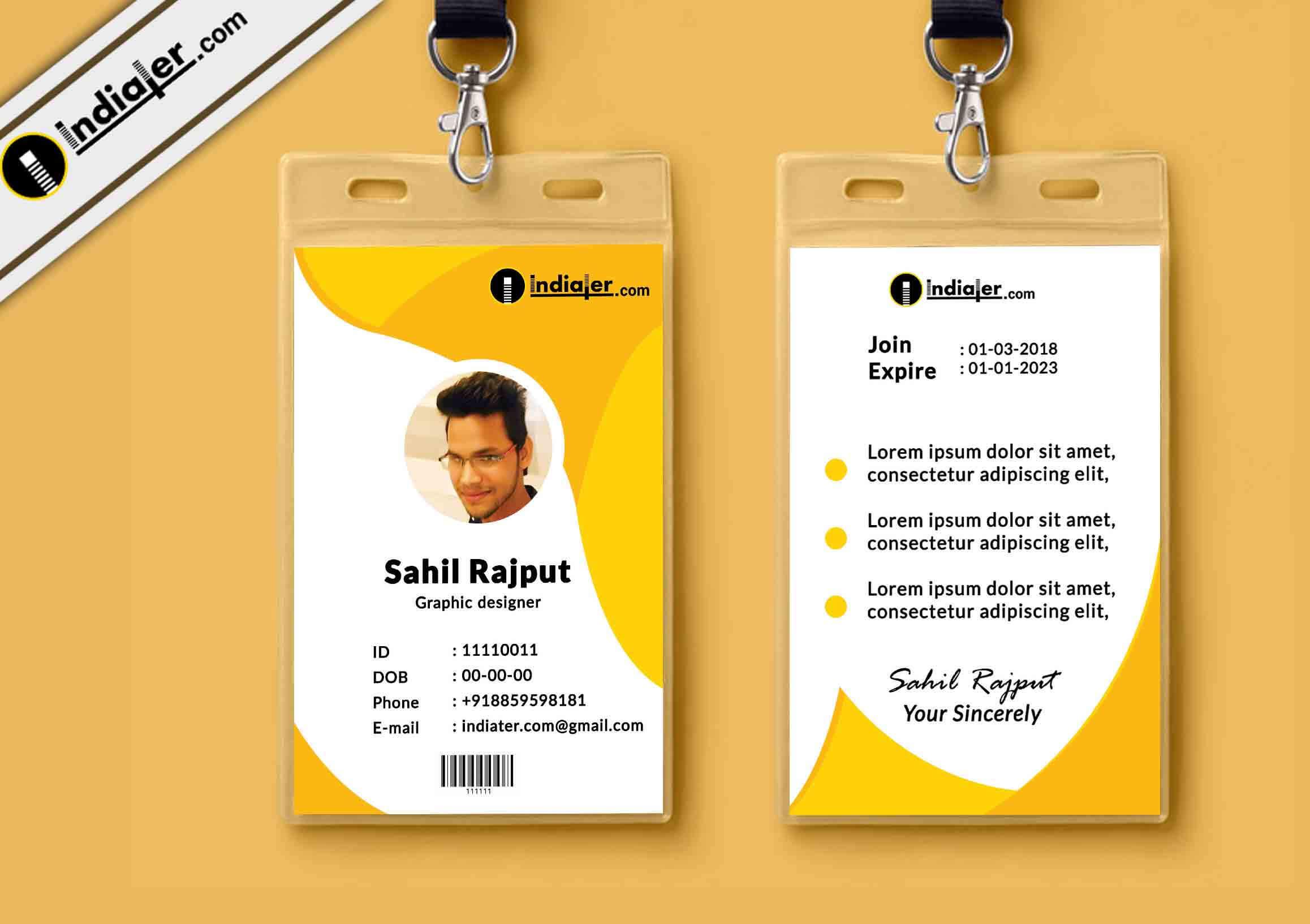 019 Id Card Template Psd Free Download Ideas Multipurpose Regarding College Id Card Template Psd