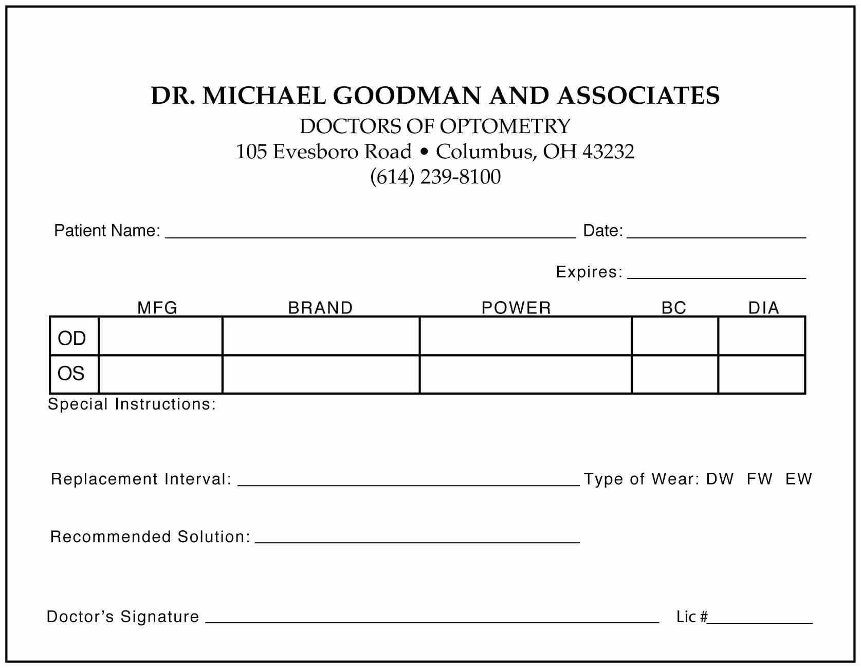 019 Prescription Pad Template Microsoft Word Free Download Within Blank Prescription Form Template