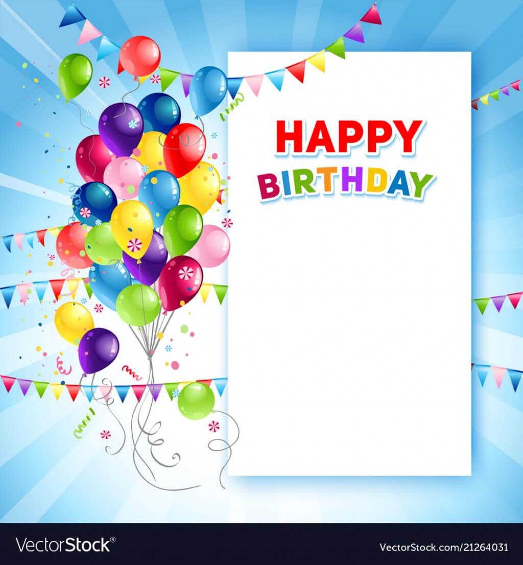 019 Template Ideas Festive Happy Birthday Card Vector Free In Birthday Card Publisher Template