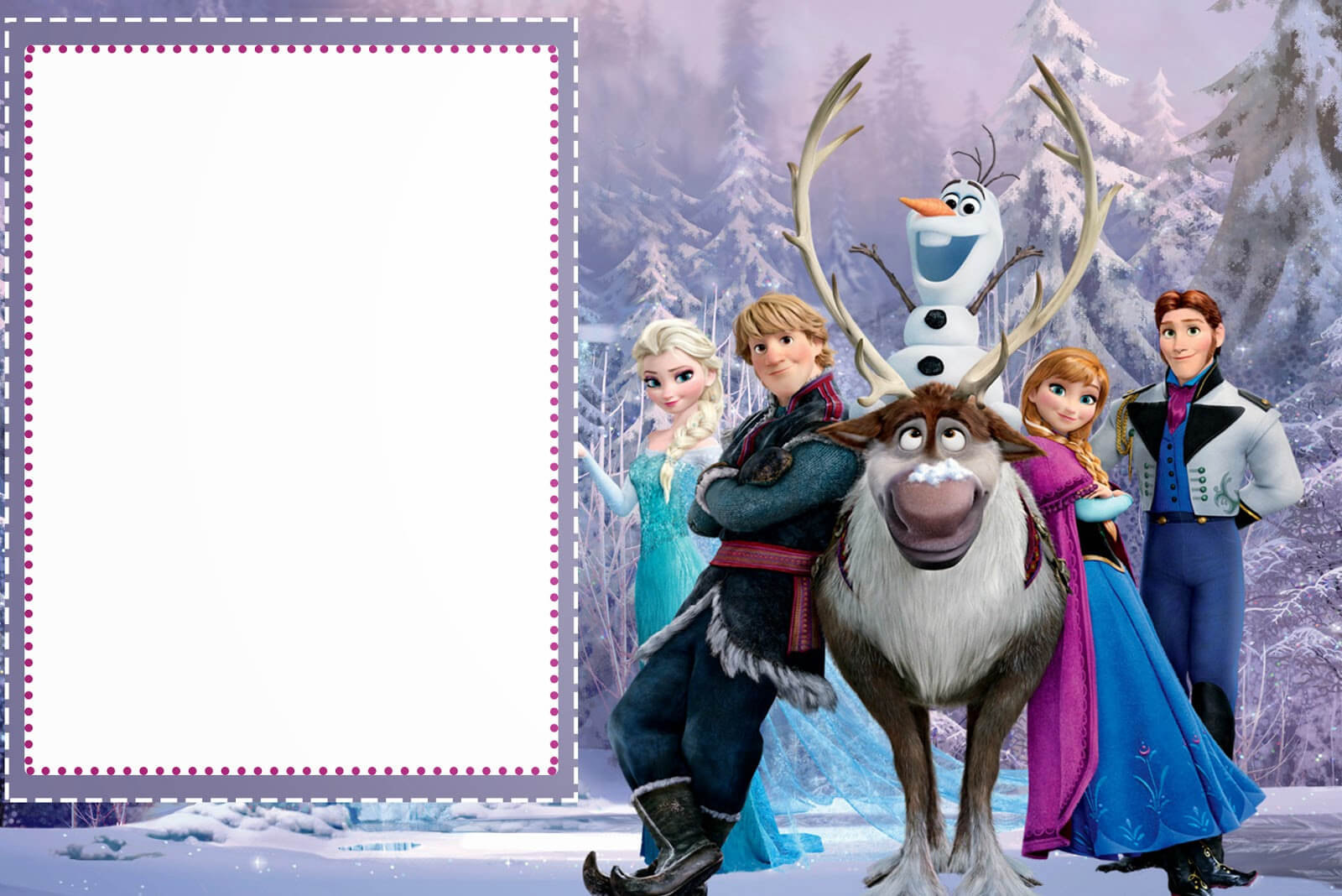 019 Template Ideas Frozen Birthday Invites Free Printable Intended For Frozen Birthday Card Template