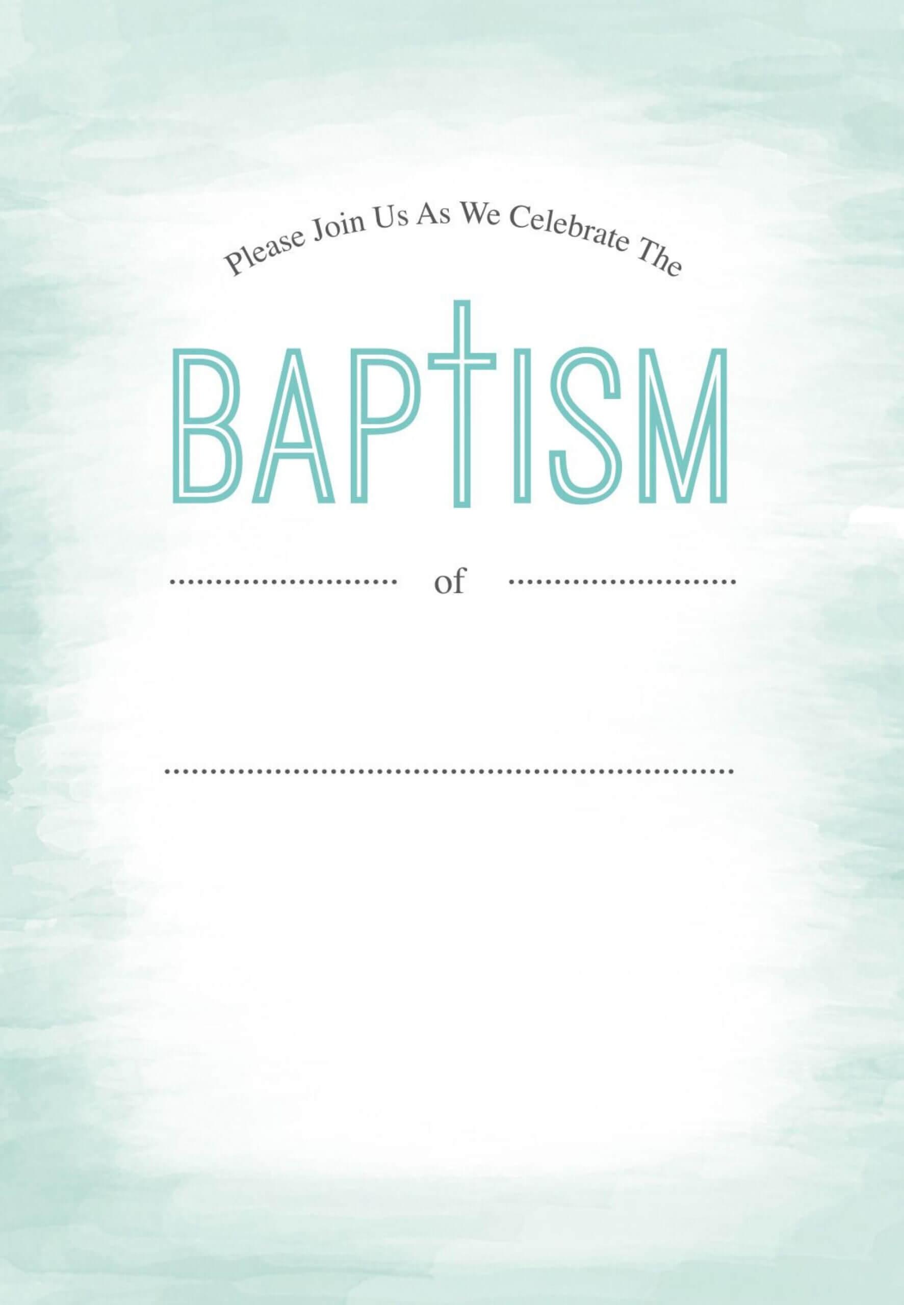 021 Free Baptism Invitation Templates Blank Template With Regard To Blank Christening Invitation Templates