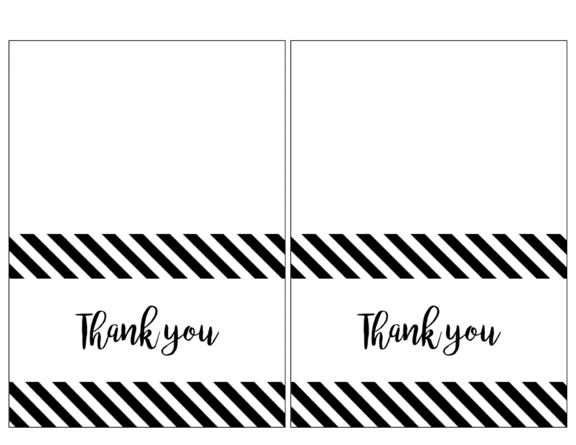 021 Printable Thank You Card Templates Note For Teacher From Within Free Printable Thank You Card Template