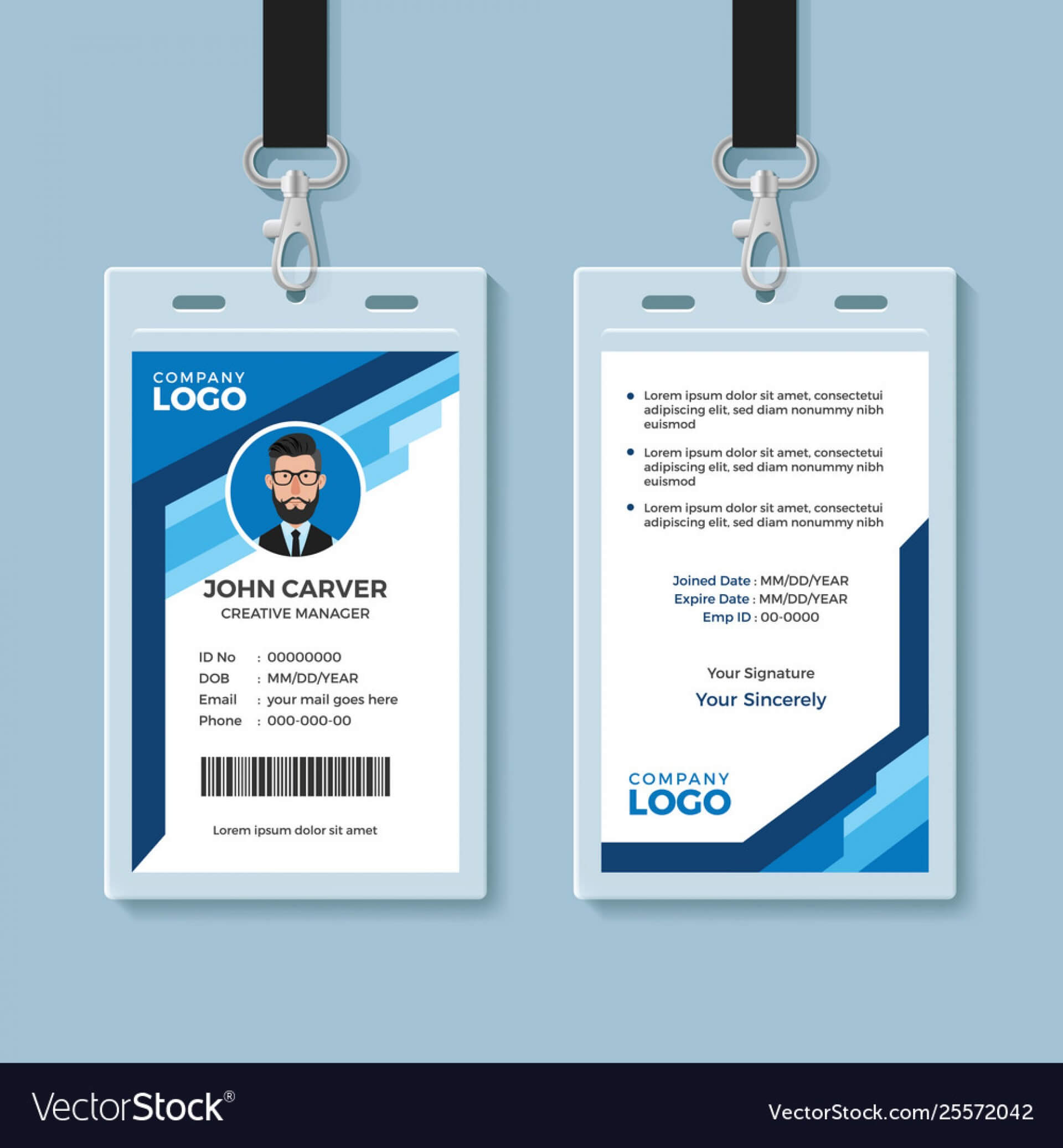 022 Template Ideas Employee Id Card Ai Free Exceptional Intended For Id Card Template Ai
